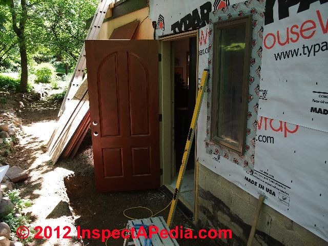 Fiberglass Exterior Door During Installation (C) D Friedman Eric Galow  Galow Homes Part 71