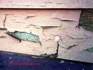Hardboard siding failure (C) Carson Dunlop Associates