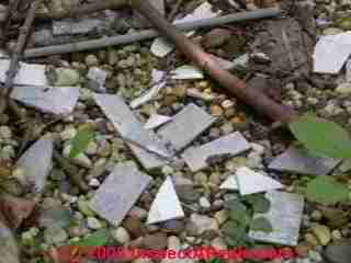Demolition debris from asbestos cement shingles (C) Daniel Friedman
