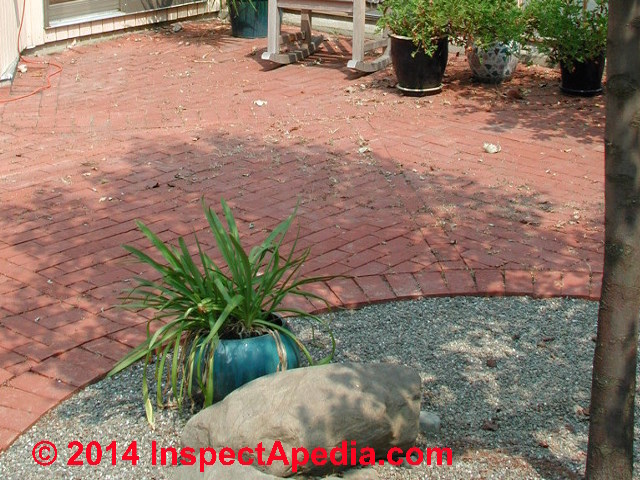 Brick Patio Not Slippery (C) Daniel Friedman ...
