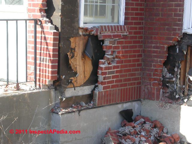 Brick veneer wall loose or cracked brick veneer walls for What is brick veneer house