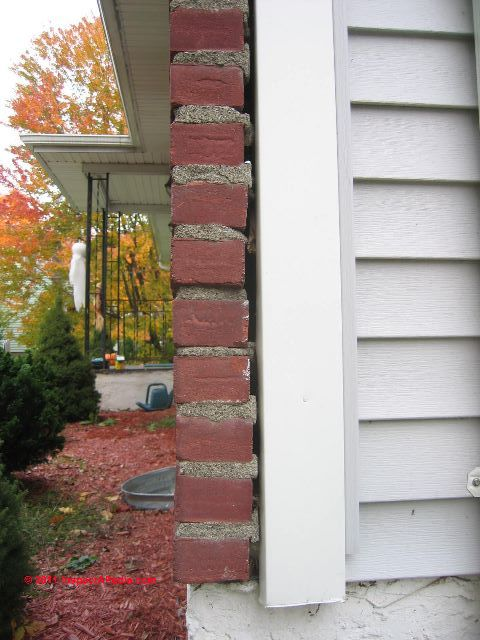 Very Loose Brick Veneer Wall (C) Daniel Friedman