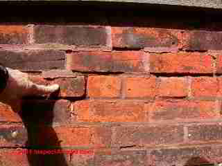 how to fix joint cracks in brick mortar