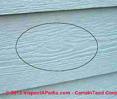 CertainTeed fiber cement siding identification photo (C) CertainTeed Corp - InspectApedia 2013