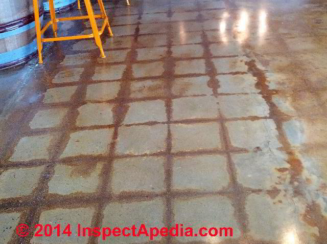 Stains In Pattern On Concrete Slab Floor © Daniel Friedman