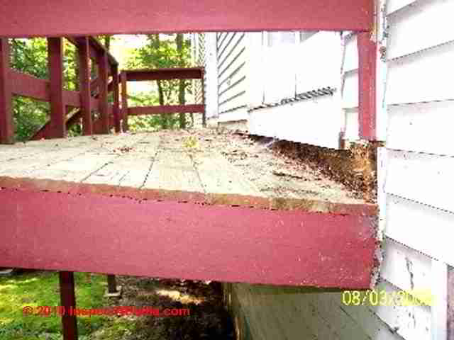 Deck rot and flashing omitted (C) D Friedman D Grudzinski & Porch u0026 Deck Ledger Flashing to buildings - Construction Details to ...