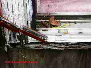 Sliding door sill rot (C) Daniel Friedman