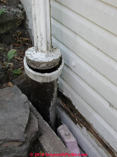 Buried Downspouts Amp Underground Drains For Roof Runoff