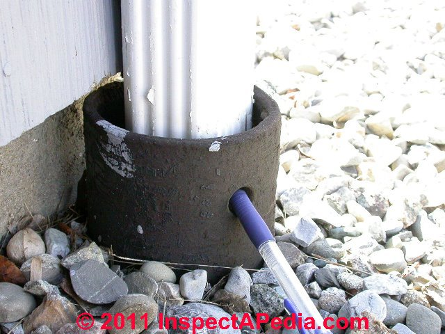 Popular Buried Downspouts & Underground Drains for Roof Runoff LU74