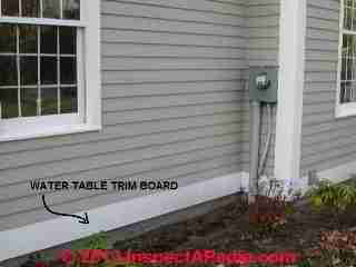 Exterior siding & water table trim board (C) Daniel Friedman