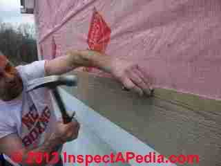 How to remove fiber cement siding - nail punching (C) Daniel Friedman