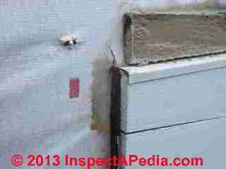 Leaks in the fiber cement lap sided wall (C) Daniel Friedman