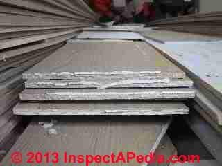 Fiber cement siding - used, removed, reclaimed, ends needing caulk removal (C) Daniel Friedman, Eric galow