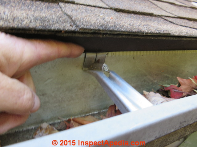 Drip Edge Improperly Installed Or Gutter Poorly Water Runs Behind C