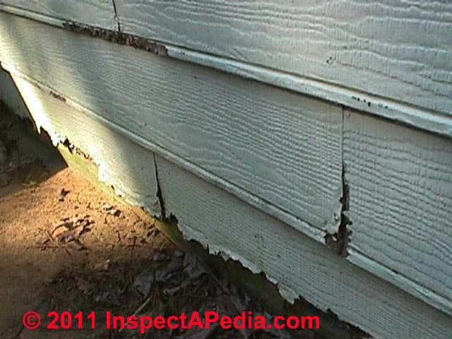 masonite louisiana pacific forestex hardboard siding failures inspection defects repairs