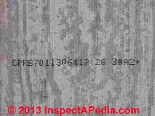 Identifying back side stamps on Hardieplank fiber cement siding (C) Daniel Friedman