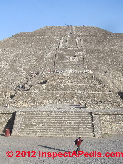 Severe exterior stairs at the Pyramid of the Sun, Mexico city (C) D Friedman