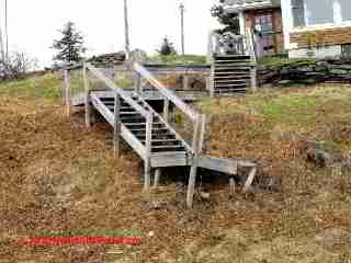 Amateur exterior stair & deck construction (C) D Friedman