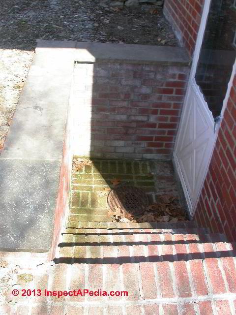 Basement Walkout Without Cover   Check For A Functional Drain U0026 For Basement  Leaks (C
