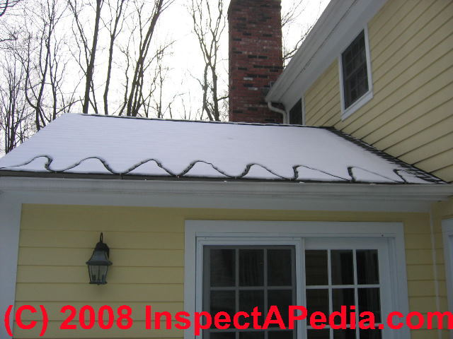 Photo Of Heat Tapes On A Roof Edge
