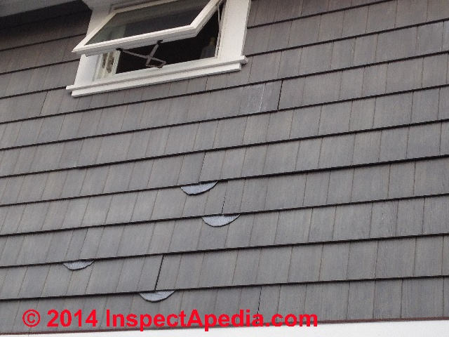 Fiber Cement Siding After Exposed To Rain C Inspectapedia E D