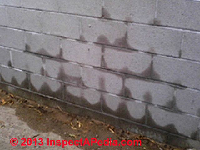 Masonry Wall Soaked By Sprinkler System On Other Side C Inspectapedia
