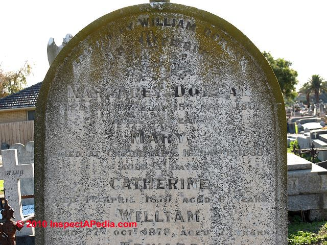Cleaning tombstones
