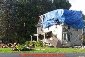 Tree fall smashes home (C) Daniel Friedman