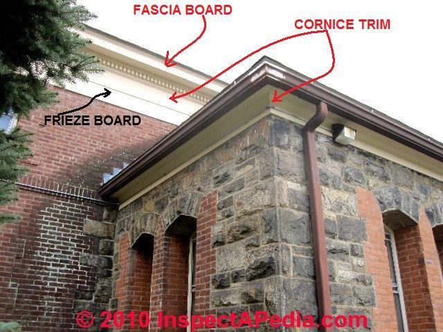 Definition of fascia u0026 cornice trim boards (C) Daniel Friedman & Glossary of house parts and house structure components; Home ... memphite.com