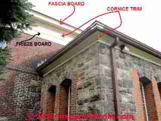 Definition of fascia & cornice trim boards (C) Daniel Friedman