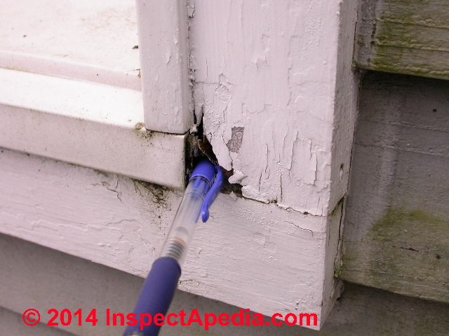 Window Trim Rot At Sill   Common Damage Location (C) Daniel Friedman ...