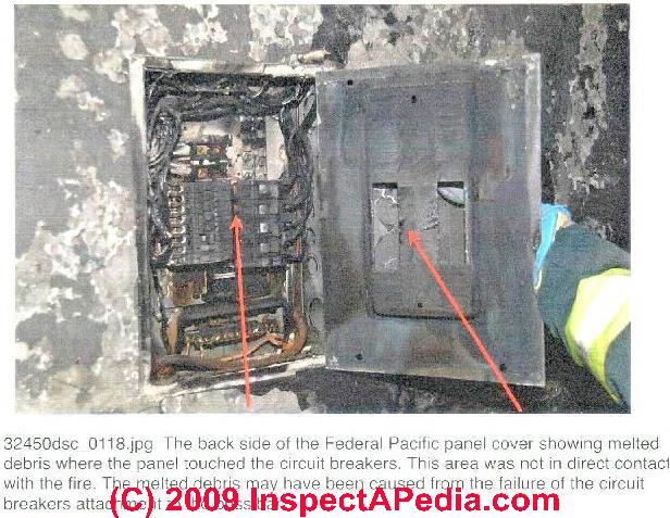 panel fire and failure photos involving fpe stab lok® equipment fpe fire report c daniel friedman