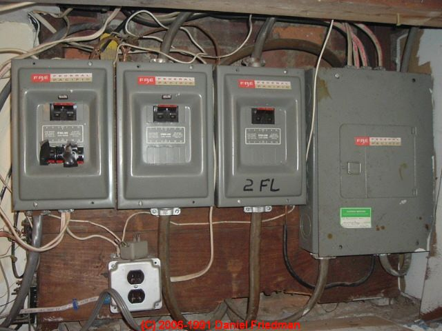 FPE Sub Panels: Risk essment of Federal Pacific Electric ... Federal Electrical Panel on