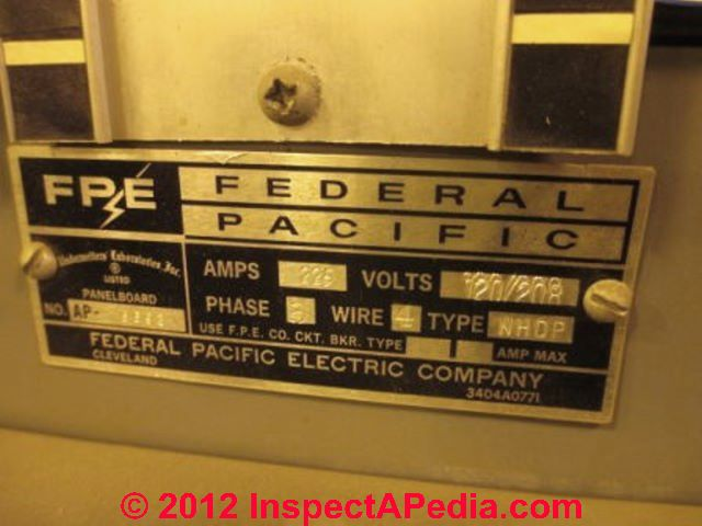 Identify Recognize Federal Pacific Electric FPE Stab Lok ... on