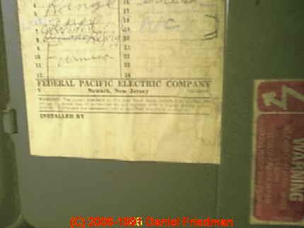 Fpe Panel Door Labels Help Identify Federal Pacific