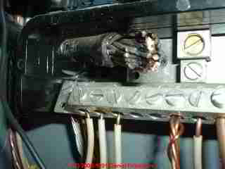 Photograph of Bad neutral connection, FPE breaker failed to trip