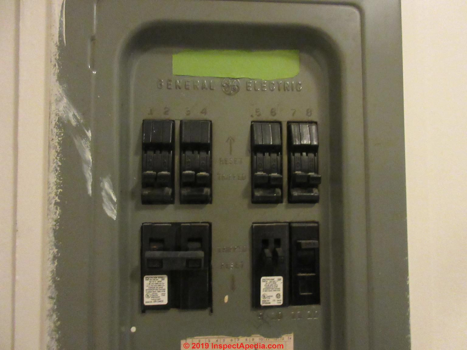 Circuit Breaker Panel Label On The Inside Door Of The Circuit Breaker