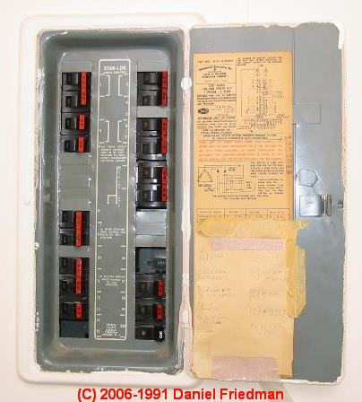 EMI & Label Federal Pacific Electric FPE Stab Lok ... Federal Electrical Panel on