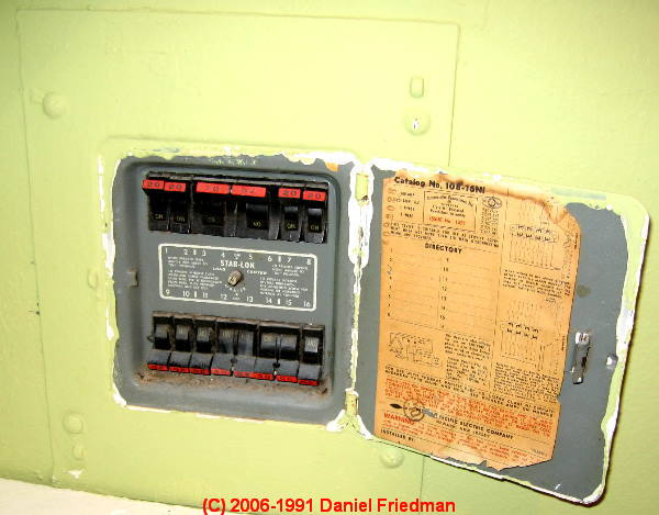 Federal Pacific Electric FPE Stab Lok Panel Cover Markings ... on