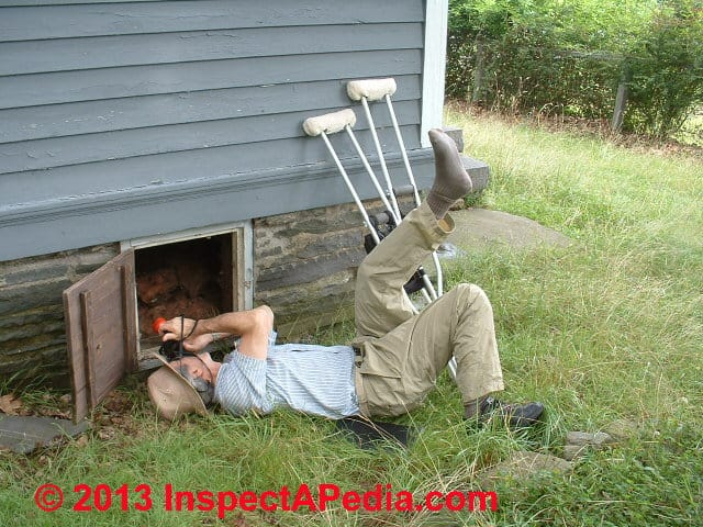 D Friedman Inspecing With Broken Leg Aug 2003 Building Codes Require That Crawl  Spaces ...