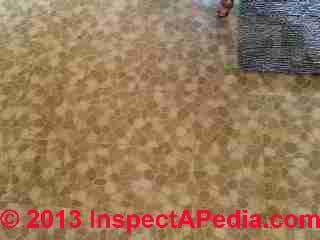 1963 vintage floor tile may contain asbestos (C) InspectAPedia