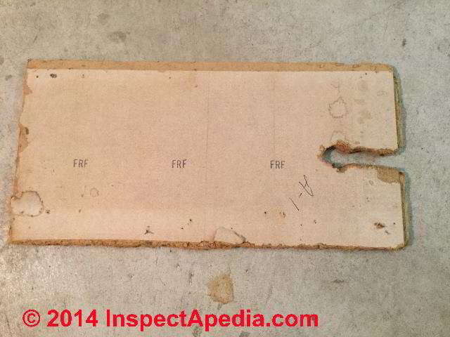 Asbestos Ceiling Tiles Identification