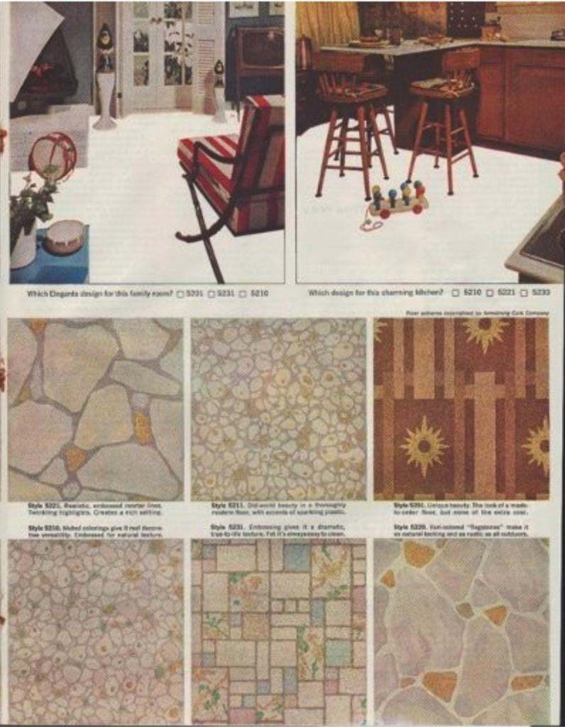 Armstrong Linoleum Adver From 1961 At Inspectapedia