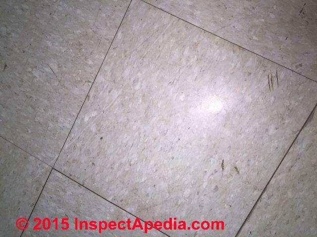 Color guide to identify asphalt asbestos vinyl asbestos for 1960s floor tiles