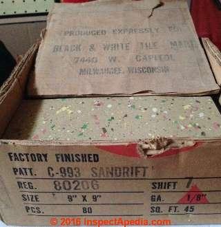 1950s Floor Tile Asbestos Green White Vintage Asbestos 9