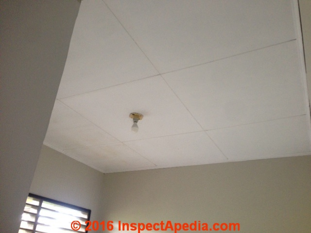 Asbestos Suspect Acoustic Ceiling Tiles Cover Up Example