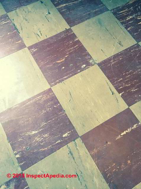 Asphalt Asbestos Vinyl Asbestos Floor Tiles Sheet Identification
