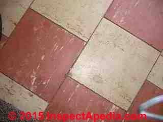 Abestos floor tiles (C) InspectApedia reader submission 2015