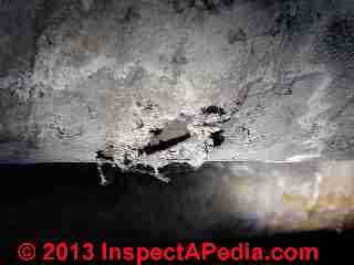 Asbestos fabric used as pipe or duct wrap (C) Daniel Friedman