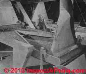 Asbestos fiber separation shaking tables - Rosato (C) InspectApedia